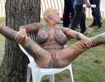 Perfect mature pornstar tattooed slit