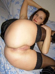 Cute wife showing her butt and pussy crack