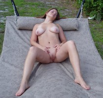 Beautiful middle-aged lady showing her nice pussy