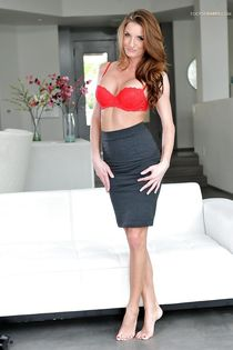 Busty office worker - Porn pictures