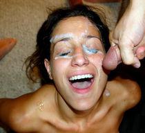Amateur close-up facial cumshot homemade pictures