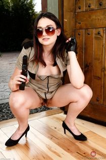 Hairy Cop Amy Faye Strips Naked at ATK Natural Hairy HD
