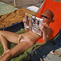 Retro nude pictures with family nudists