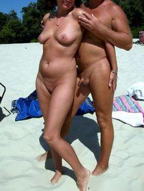 Female exhibitionists and nudist couple, voyeur photo, hidden camera