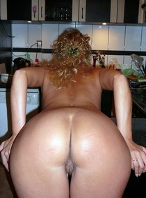 Nasty pure mature showing her perfect ass and wet hairy pussy