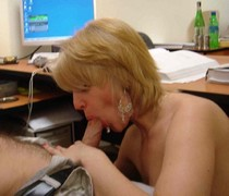 Blowjob in office - homemade porn photos