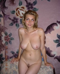 Hot blonde wife posing naked