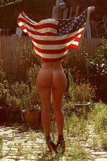 American girl with incredible sexy buttocks