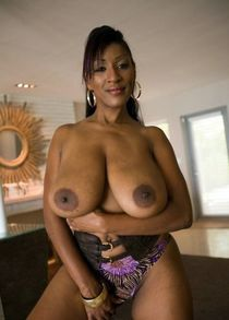 Retro black women with huge fake tits, smiley vintage ebony chick
