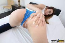 Slim babe Charity rubs her twat on webcam