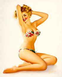 Sexy Underwear Girl Pop Pin Up Vintage Poster Classic Retro