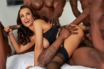 Evil Angel Lisa blacked out by 5 dicks