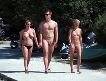 Pervert nudists with age difference - Old Young Nudists