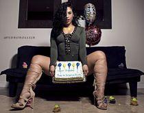 Sexy latina BBW Kristina Nicole perfect big butt, Muscular, short legs