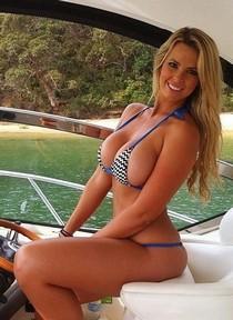 Bimbo wife on boat.