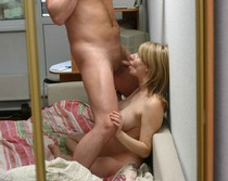 Pregnant wife sucking husband's cock hard