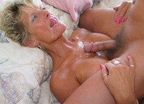 Hot blonde mature in a amazing blowjob pic.