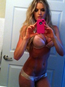 Amateur selfshot of nasty blonde with hot boobs and hot big ass