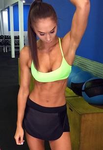 Skinny handsome bimbo selfshot her great body and big busty boobs