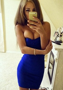 Skinny lady has so sexy skinny body with natural busty tits