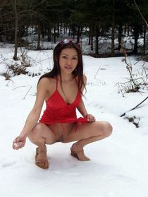 Hot chinese in awesome pussy picture.