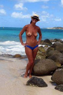 Wife on the beach