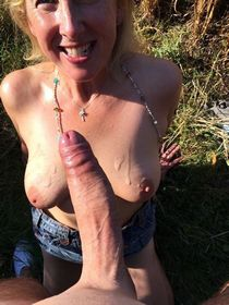 Another amateur brit milf enjoying the taste of cum