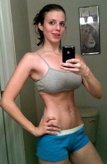 Big Tittied Fit selfie.
