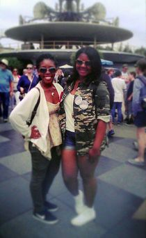 Out with my bestie two_unique at Disneyland for her birthday