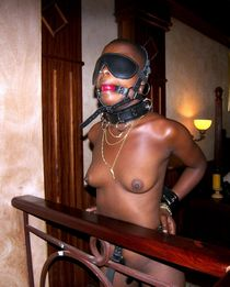 Awesome amateur bdsm photo with beautiful chocolate skinned beginners.