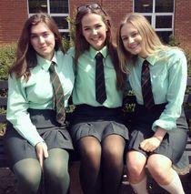 Girls Dressed In Formal School Uniforms Schoolgirls and stuf
