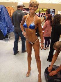 Renea; WOW.! 50 years old..! Bikini Competition Fit at 50
