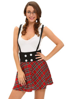 Preppy School Girl Vintage Clubwear Sexy Night Club Role Pla