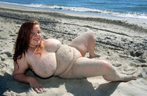 Big titted nudists on the seashore - Chubby Naturists