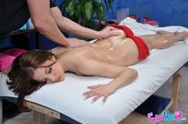 Sexy teen girl gets her tight body massaged and fucked hardc