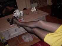Ebony Nylon Feet 3318 Miss Fanny 8 (shiny black pantyhose