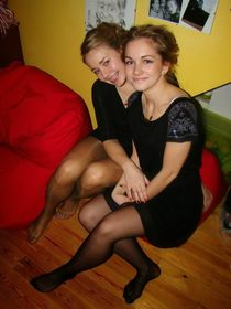 "Candid Legs в Твиттере: ""Two Sexy Babes Wearing Black Pantyh"