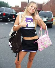 Cheerleader Modeling - Cheer Sexy in the Parking lot! CVID.b