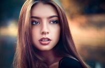 Beautiful girl female women woman sexy babe model brunette f
