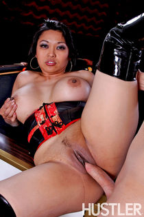 Busty slut Mika Tan gave a blowjob and get pounded hard. Fro