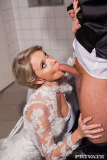 Angel Piaff gets pounded in the toilet in her wedding day -
