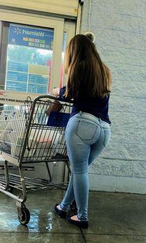 Candid jeans asses upskirtporn