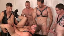 Blue Bailey Getting Fucked Bareback By 5 Guys At A Bathhouse
