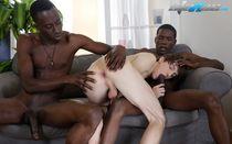 Cute white twink worships black cock