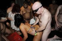 Gangbang party with British amateur babes in a UK swingers c