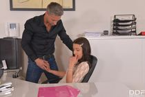 Skinny young intern Therese Bizarre fucked by old boss - POR