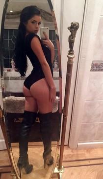 Amazing selfshot photo with a sexy brunette.