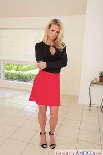 Horny blonde wife Sydney Hail seduces her son's best friend
