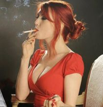 My kryptonite. Redhead and smoking. Post history. /r/smoking