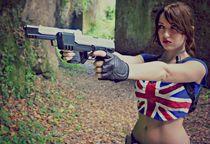 GIRLS WITH GUNS weapon gun girls girl sexy babe lara croft c